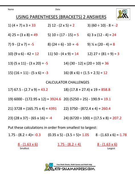 image result for bodmas worksheets grade 5 bodmas worksheets math