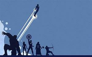 The Avengers Silhouette Wallpaper