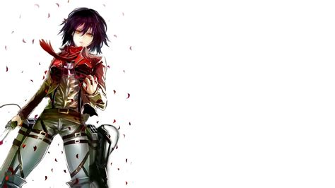 attack  titan mikasa ackerman wallpapers wallpaper cave