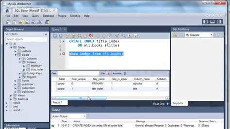 sql query to create table sql create index statement tutorial with mysql youtube