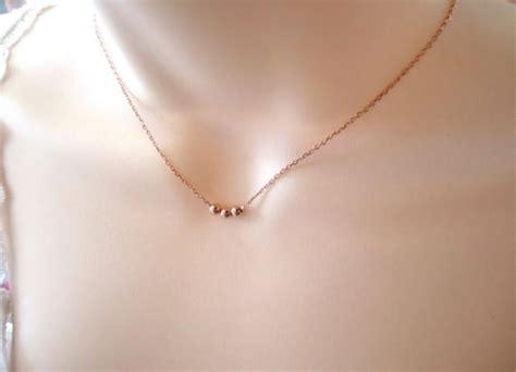 rose gold  wishes necklacesimple handmade jewelry  tiny light balls everyday wedding