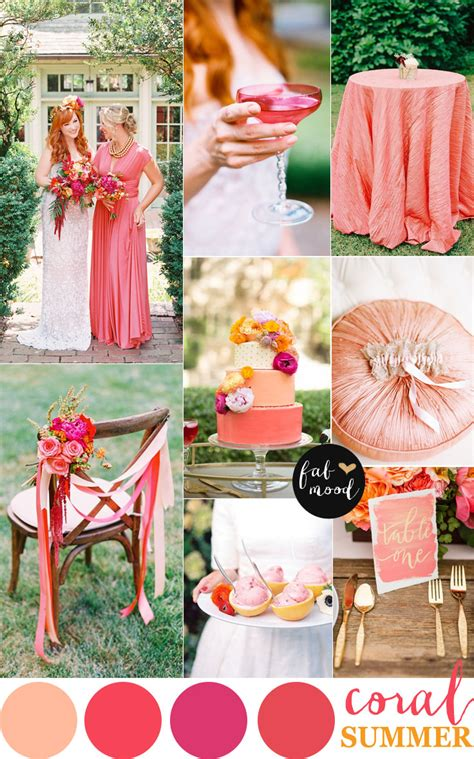 wedding color scheme coral wedding color combos color schemes for summer