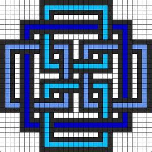 Geometric Square perler bead pattern | Hama perler ...