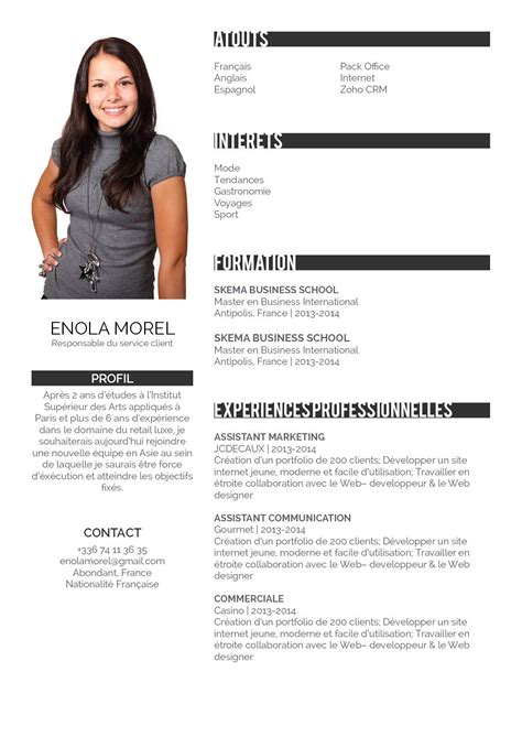 Comment Faire Un Bon Cv Exemple by Comment Faire Un Bon Cv Cv Bien Pr 233 Sent 233 183 Mycvfactory