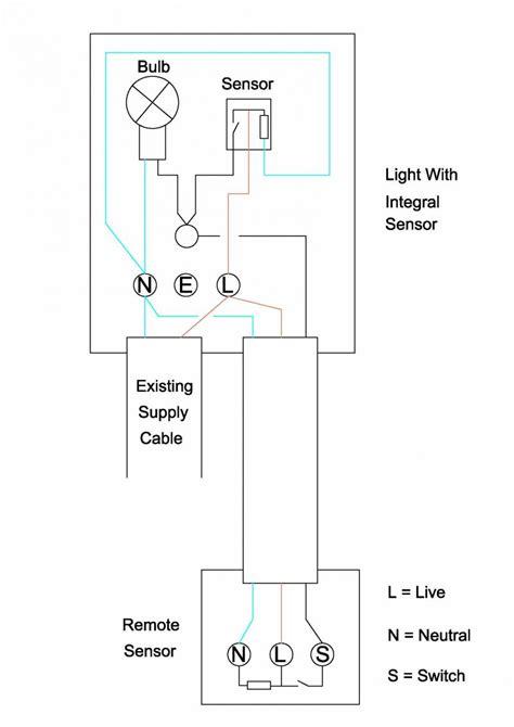 wiring sensor into security light diynot