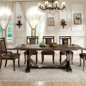 world dining room promenade trestle dining table