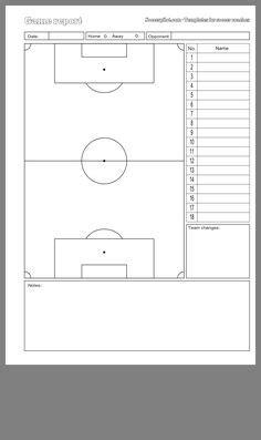 soccer player set  sheets soccer lineup sheet