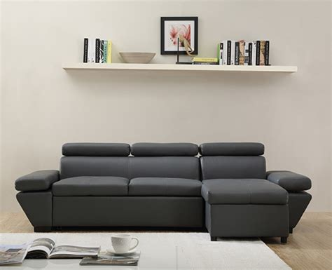 canapé d angle basika canapé d 39 angle à droite casanova gris anthracite