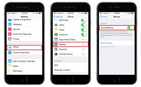 iphone icloud how to enable and trigger icloud backups in ios 8