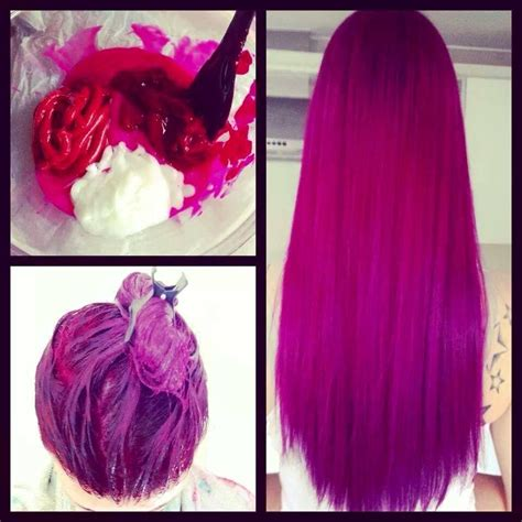 Mix For A Fuscia Hair Color With Violet And Red Under Tones