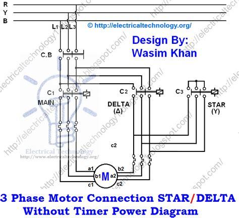 delta starter motor starting method power wiring