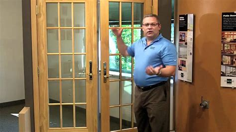 french doors locking system youtube