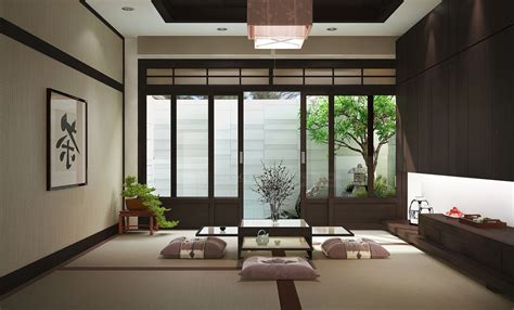 room japanese style japanese style living room bright lighting above drawer vanity beside wall wooden table on