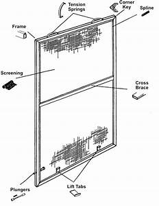 Window Screen Parts Visual Diagram