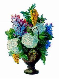 vintage clip floral urn the graphics