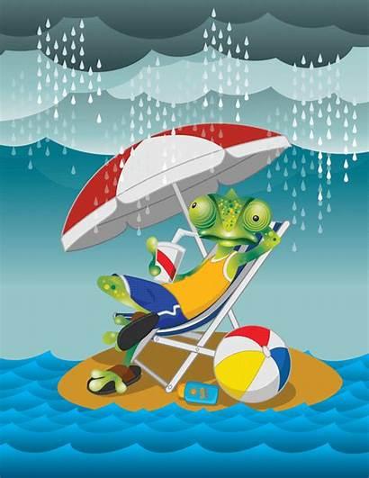 Summer Holiday Enjoy Rain Fun