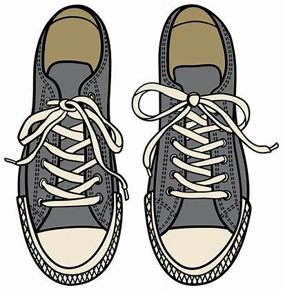 Clipart Sneakers Grey Shoes Cliparts Rubber