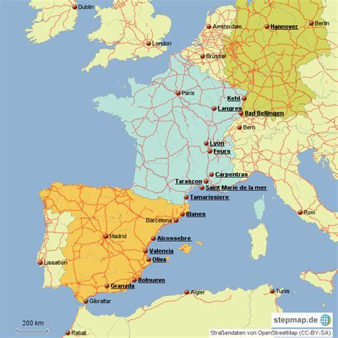 karte spanien frankreich deutschland kleve landkarte