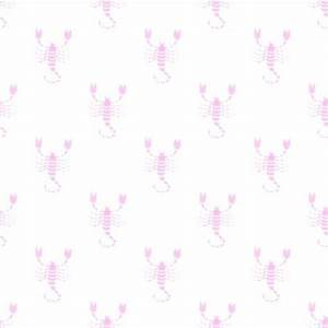 Pink Scorpio Astrology Watermark On White Background Image ...