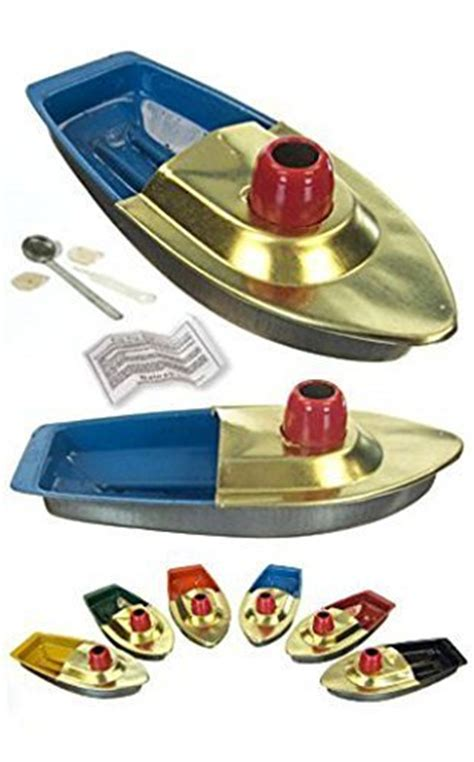 Toy Boat Powered By Candle by Fun Steam Powered Tin Toy Boat Pop Putt Candle Powered