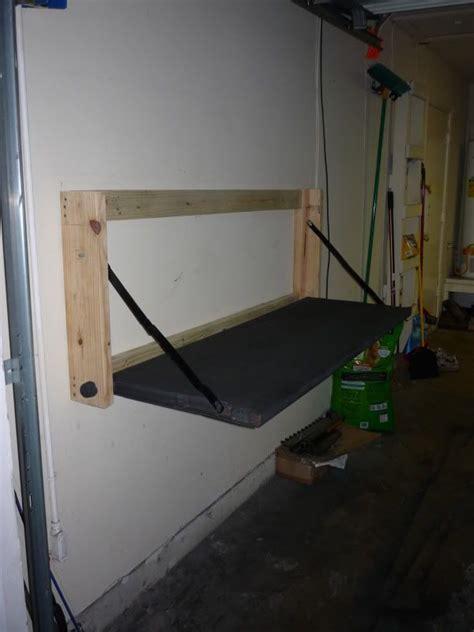 folding tailgate work bench  garage journal board