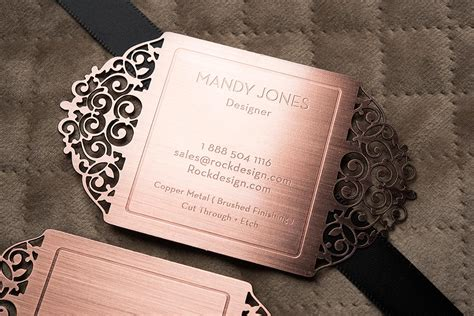 Free Beautiful Cut-through Design Copper Metal Business Where To Buy Business Card Holder For Desk Indonesia Etiquette Gift Shop Black Leather Horizontal Cards In Hazel Guides Illustrator Wallet Plastic