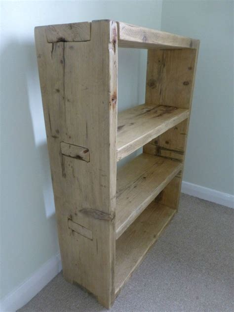 rustic bookcase hand   reclaimed scaffold boards
