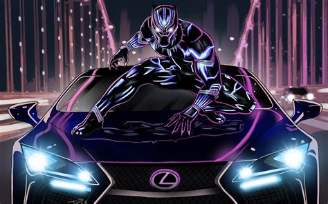 black panther  lexus lc wallpapers hd wallpapers