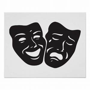 Drama Masks Posters | Zazzle
