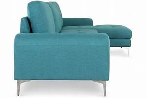 Canapé D Angle Vert : canap d 39 angle en tissu bleu vert albury design sur sofactory ~ Teatrodelosmanantiales.com Idées de Décoration