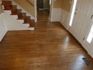 oak foyer stained with special walnut and coated with a satin finish stairs were done to