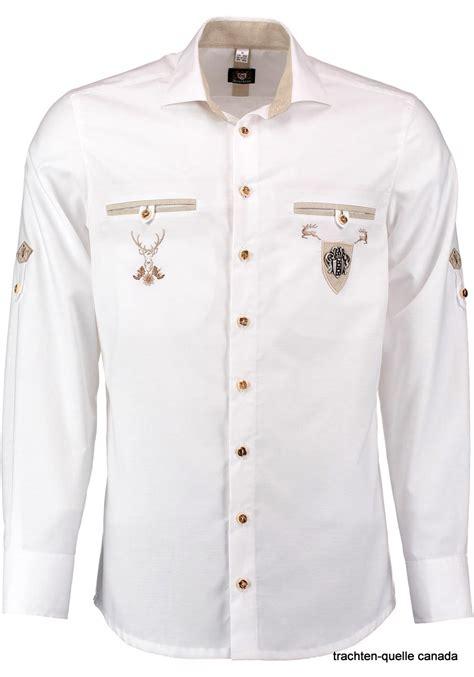 mens trachten shirt white  pocket details slim trachten quelle