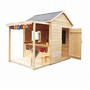 Maison Pour Enfant En Bois : maisonnette en bois epicerie castorama projet cabane ~ Premium-room.com Idées de Décoration