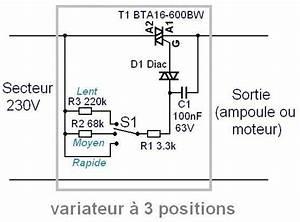 Variateur De Vitesse : variateur de vitesse 16a triac 3 positions astuces ~ Farleysfitness.com Idées de Décoration