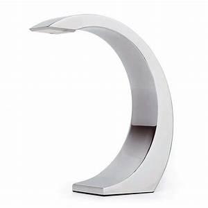 Lampe chromée tactile LED design