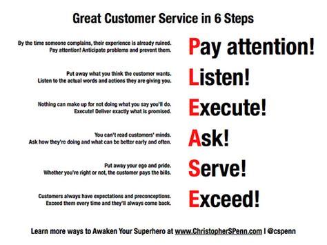 great customer service in one slide christopher s penn