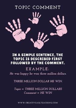 basic grammar rules  creative asl teaching tpt