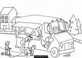 Ecoloringpage Peppa Besuchen Coloringmates Eiswagen Coloringhome Recomendadas álbuns sketch template