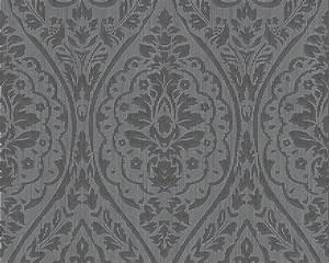 Tapete Barock Schwarz : tapete vlies barock schwarz grau tessuto 96195 7 ~ Yasmunasinghe.com Haus und Dekorationen