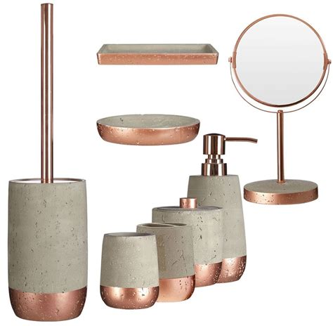 Modern Copper Bathroom Accessories by Neptune Bathroom Accessory Set 8pc Warm Copper Finish