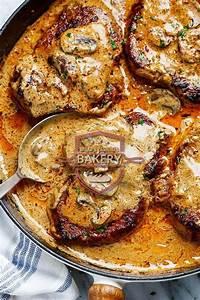 1419 Review Garlic Pork Chops In Creamy Mushroom Sauce  Bakedpotatowithshrimp In 2020
