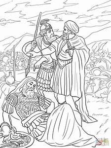 David Spares King Saul Coloring Page Free Printable