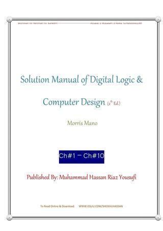 fundamentals of digital logic with verilog design 3rd edition pdf digital design morris mano third edition solution manual