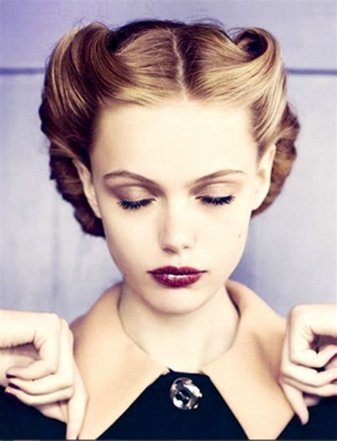 Retro Womens Hairstyles by Best 25 1940s Hairstyles Ideas Only On 1940s