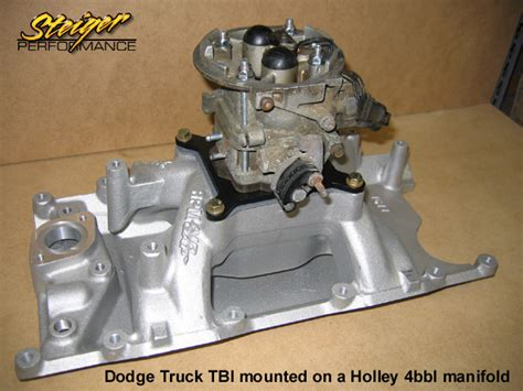 Holley 4bbl To Dodge Truck Tbi Adapter