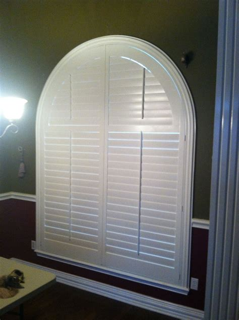 louvered real wood arched shutters  decorative