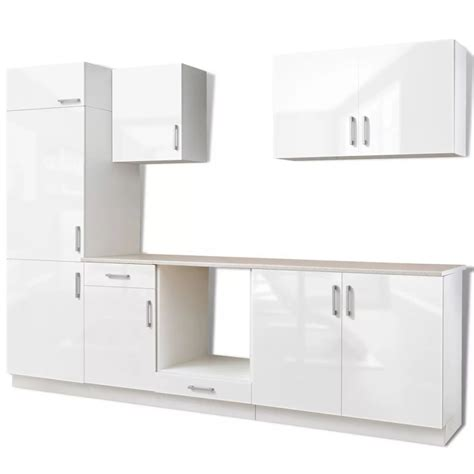 armoire colonne cuisine vidaxl co uk 7 pcs high gloss white kitchen cabinet unit