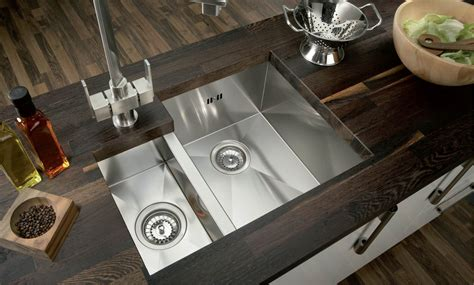 square undermount stainless steel kitchen sink hafele contemporary pencil radius square 1 5 bowl