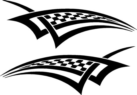 Motorcycle Racing Checkered Graphics Vinyl Car Decals (20