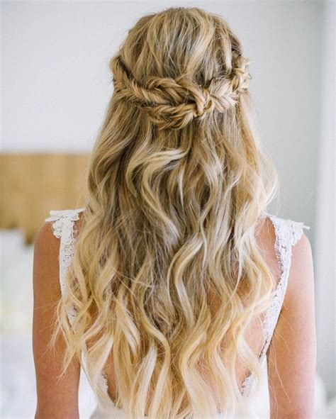 32 pretty half up half down hairstyles partial updo